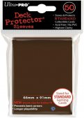 Sachet de 50 sleeves Marron - Format US