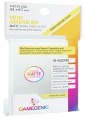 Gamegenic :  Sachet de 50 sleeves Matte Mini American Yellow (44 x 67 mm)