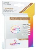 Gamegenic :  Sachet de 80 sleeves Matte 7 Wonders Brown (67 x 103 mm)