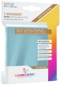 Gamegenic :  Sachet de 80 sleeves Prime 7 Wonders Brown (67 x 103 mm)