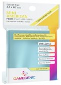 Gamegenic :  Sachet de 50 sleeves transparentes 44 x 67 mm (Mini Us)